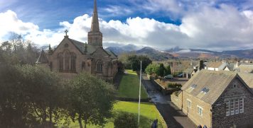View of the Newland Fells from Cumbria House, by Ruth