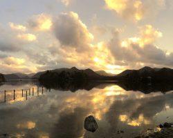Derwentwater at sunset, by Ruth