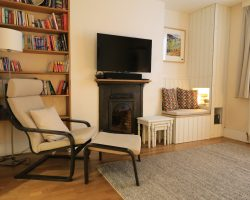 Downstairs lounge reading corner